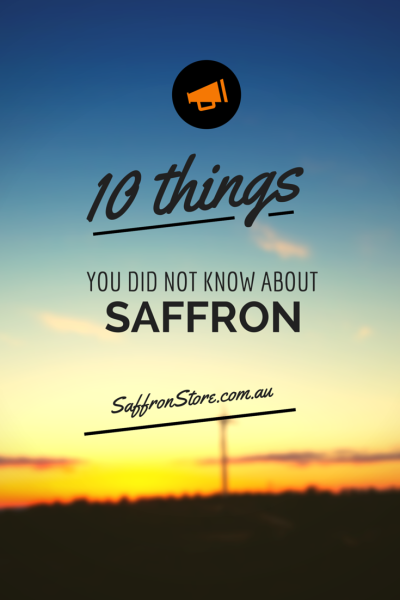 10 thing did not know about saffron