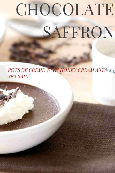 saffron choclate dessert