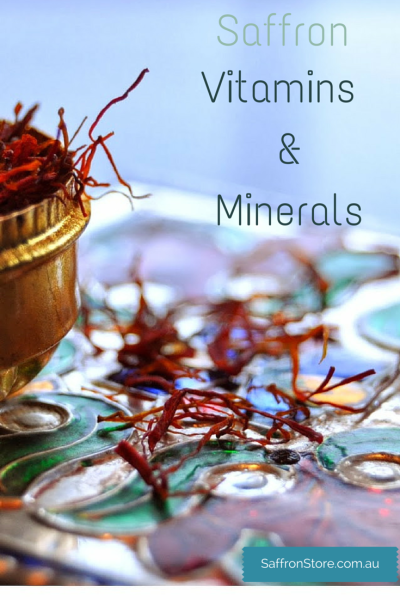 saffron minerals and vitamins