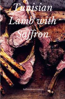 tunisisan lamb wih safforn