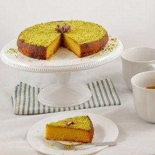 almond saffron cake
