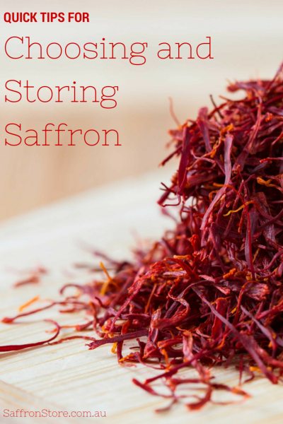 Quick Tips for Choosing and Storing Saffron