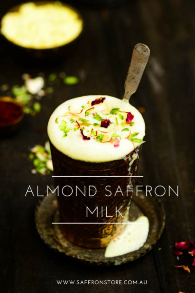 Almond Saffron Milk