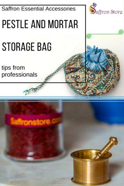 Pestle Mortar and Storage Bag